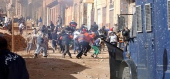 Repression de la gendarmerie algérienne au Mzab