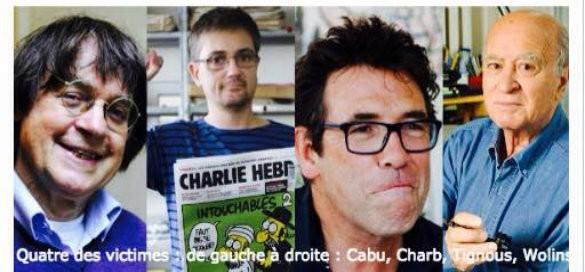 Charb, Cabu, Tignous et Wolinsky