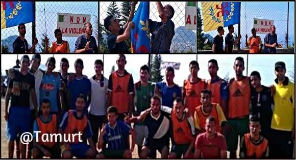 Match de football sous le drapeau kabyle