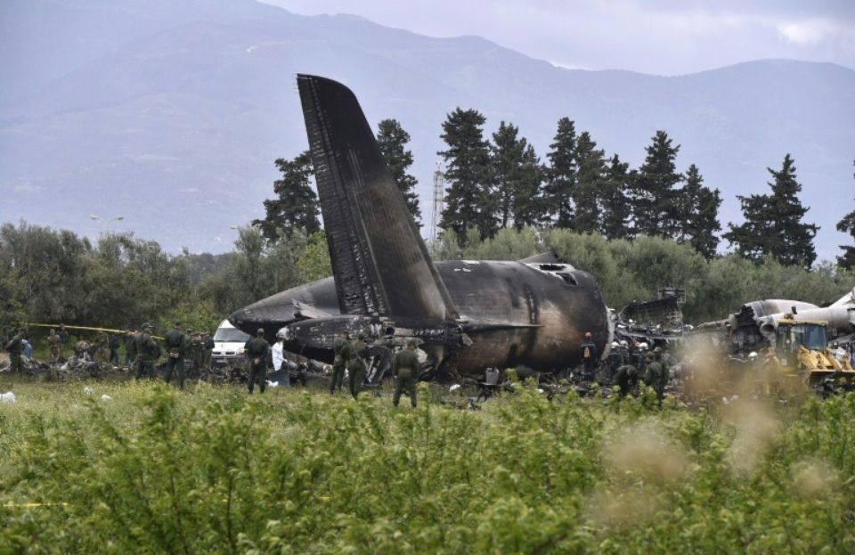 Accident d'avion, Boufarik, Algérie