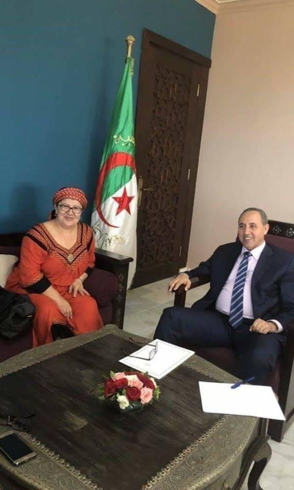 Malika Matoub avec Mihoubi