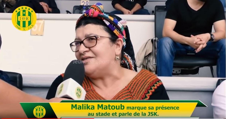 Malika Matoub au Stade