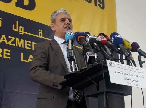 Le président du RCD Mohcine Belabbas