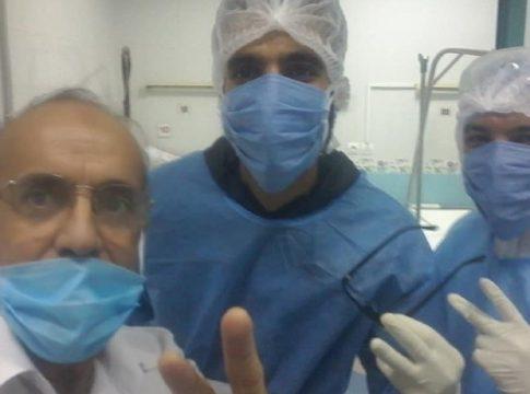 Belaid TAGRAWLA juste avant sa sortie de l'hôpital