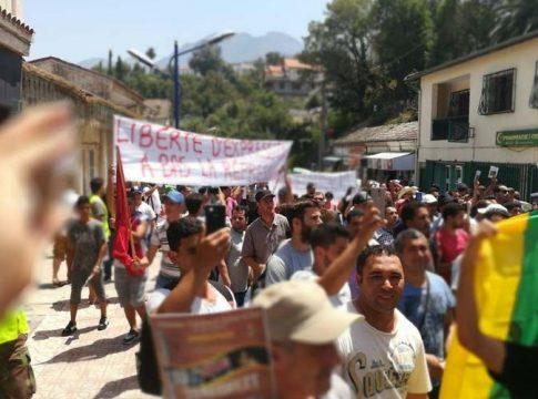 Marche à Aokas pour la liberté d'expression, en 2017