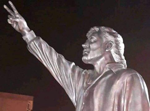 La statue de Matoub Lounès à At Douala