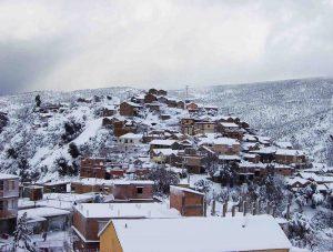La Kabylie couverte de neige